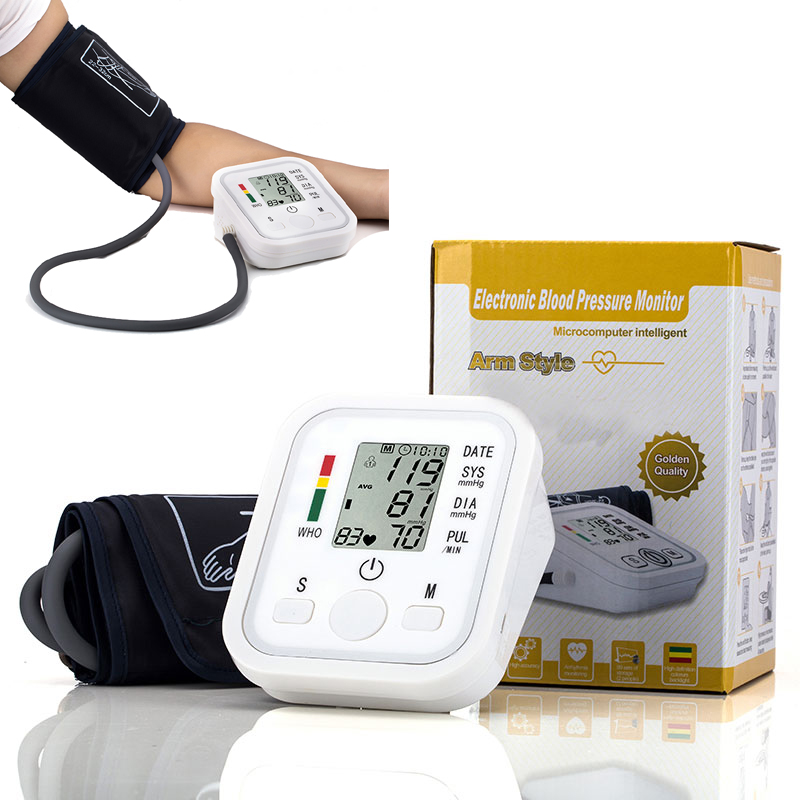 Health Care Household Professional Doctor's Digital Arm Blood Pressure Pulse Tonometer Meter Portable Accurate Home Use Monitor glucose meter with high quality accessories urine disease glucose meter test article 50 pc free blood 50 pcs of health care