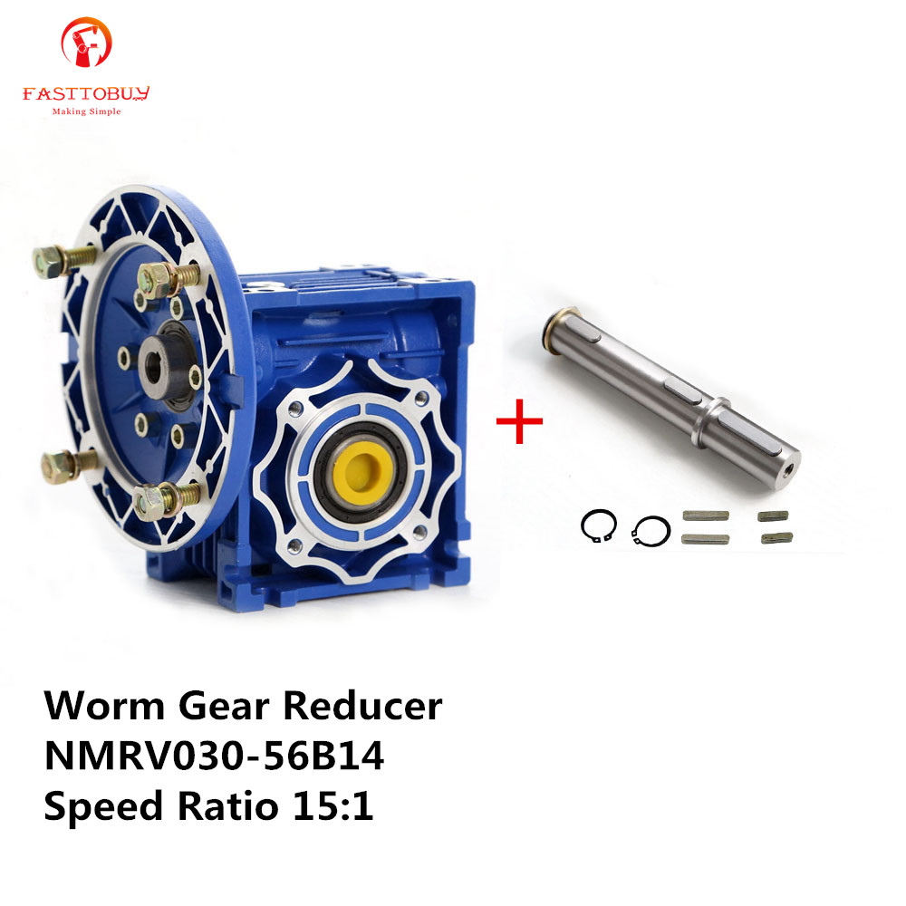 New Worm Gear Reducer Ratio 15:1 NMRV030 56B14 for 3 Phase 380v or Single/2 Phase 220v 4 Pole 2400r/min 180w Asynchronous Motor new original sgdm 10ada 200v servopack single 3 phase