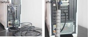 Image 5 - 3 M 9FT Cable Dây Bọc Tổ Chức Xoắn Ốc Ống Cáp Winder Dây Bảo Vệ Chia Loom Ống Dây Ống Dẫn Ống Bìa linh hoạt ống
