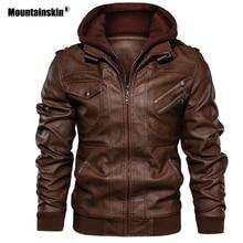 마운틴 스키 신사용 가죽 자켓 가을 캐주얼 오토바이 PU 자켓 바이커 가죽 코트 브랜드 의류 EU 사이즈 SA722