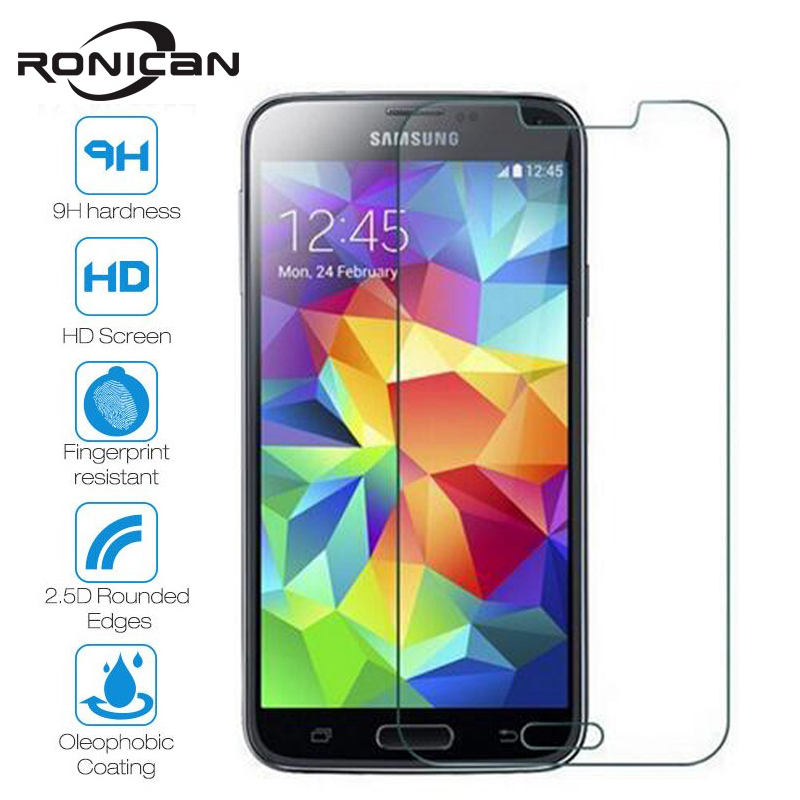 RONICAN Tempered <font><b>Glass</b></font> For <font><b>Samsung</b></font> Galaxy S6 S5 <font><b>S4</b></font> S3 J3 J5 J7 J1 <font><b>mini</b></font> 2016 Grand Prime Screen Protector Protective <font><b>Glass</b></font> Film image