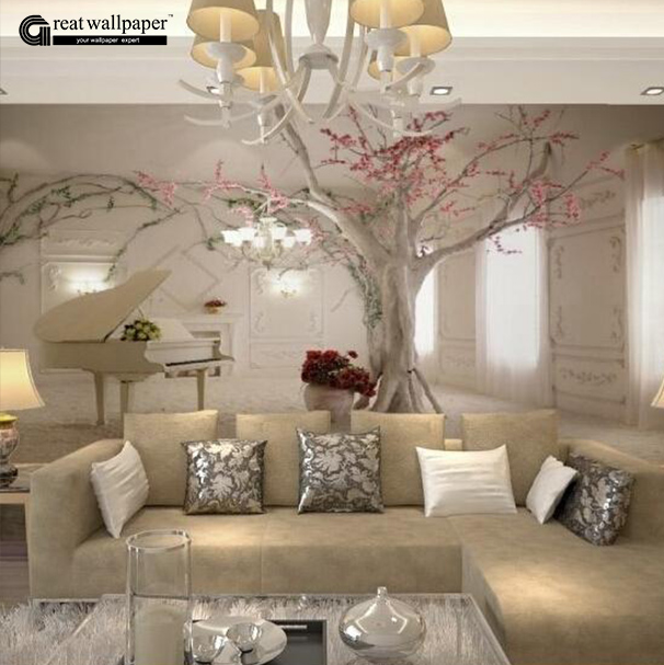 Buy custom any size 3d wall mural for Beautiful wall mural