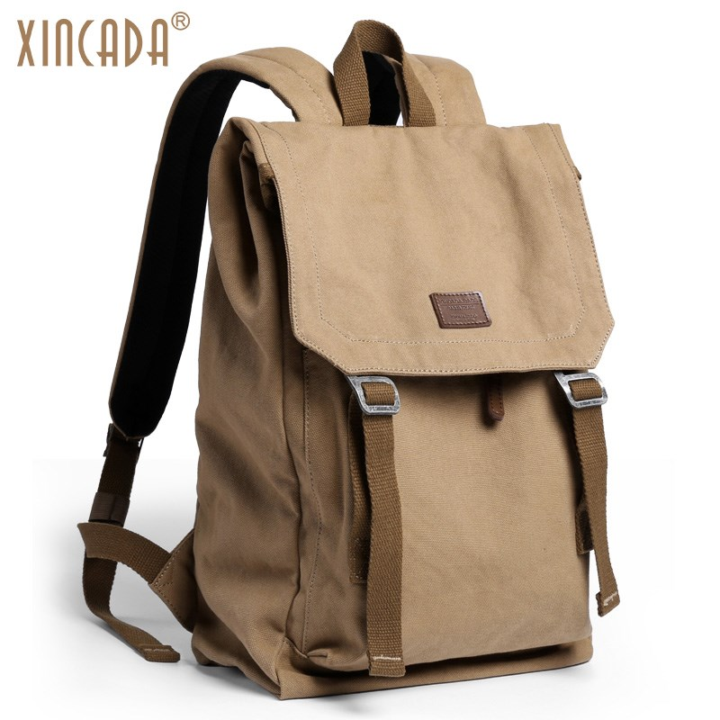 XINCADA Anti Theft Backpack Vintage Canvas Backpack Men Travel Bags Laptop School Backpacks Rucksack Back Pack arctic hunter design backpacks men 15 6inch laptop anti theft backpack waterproof bag casual business travel school back pack