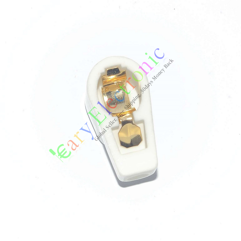Wholesale and retail 12pc 8.8mm GOLD Tube Anode Caps Ceramic Socket for 807 6146B FU25 24A 310A audio