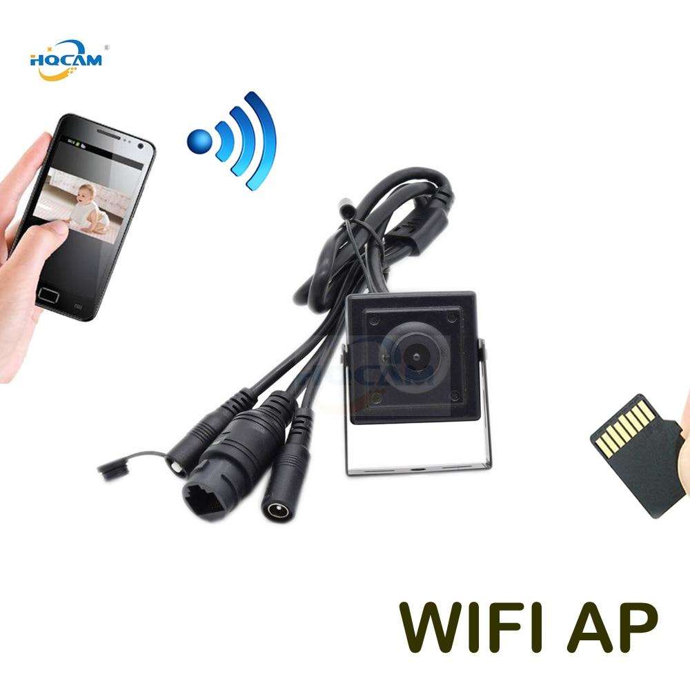 HQCAM 720P 960P 1080P Mini WIFI IP Camera P2P Onvif TF Card Slot Wifi AP Wireless Mini IP Camera Rest & Soft Antenna camhi APP