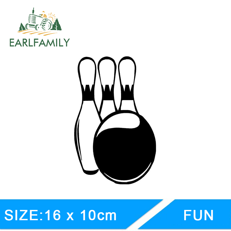 Qypf 14.5*11.5cm Interesting Bowling Love Decal Decor Car Styling Sticker Extreme Movement C16-1291 Automobiles & Motorcycles