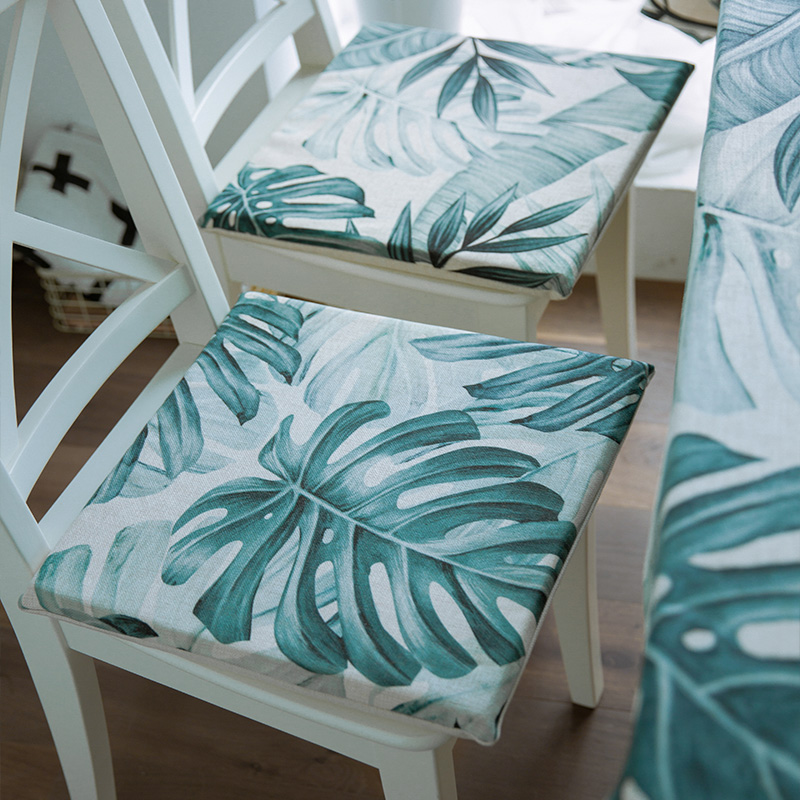 Free Shipping 40 40cm Chair Pad Cushion Pearl Cotton: Tropical Leaves Seat Pad Chair Cushion Home Decoration