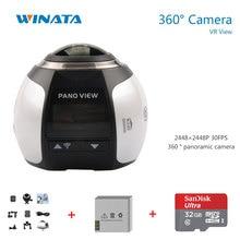 360 Camera 4k Wifi Mini 360 Degree Panoramic Camera 2448*2448 Ultra HD Panorama Sport Driving 360 Video Camera