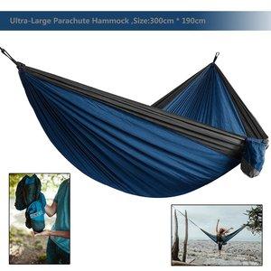Image 1 - 2019 ультрабольшой легкий парашютный гамак для кемпинга, выживания в саду, охоты, отдыха, путешествий, двойной гамак, гамак, Рамак