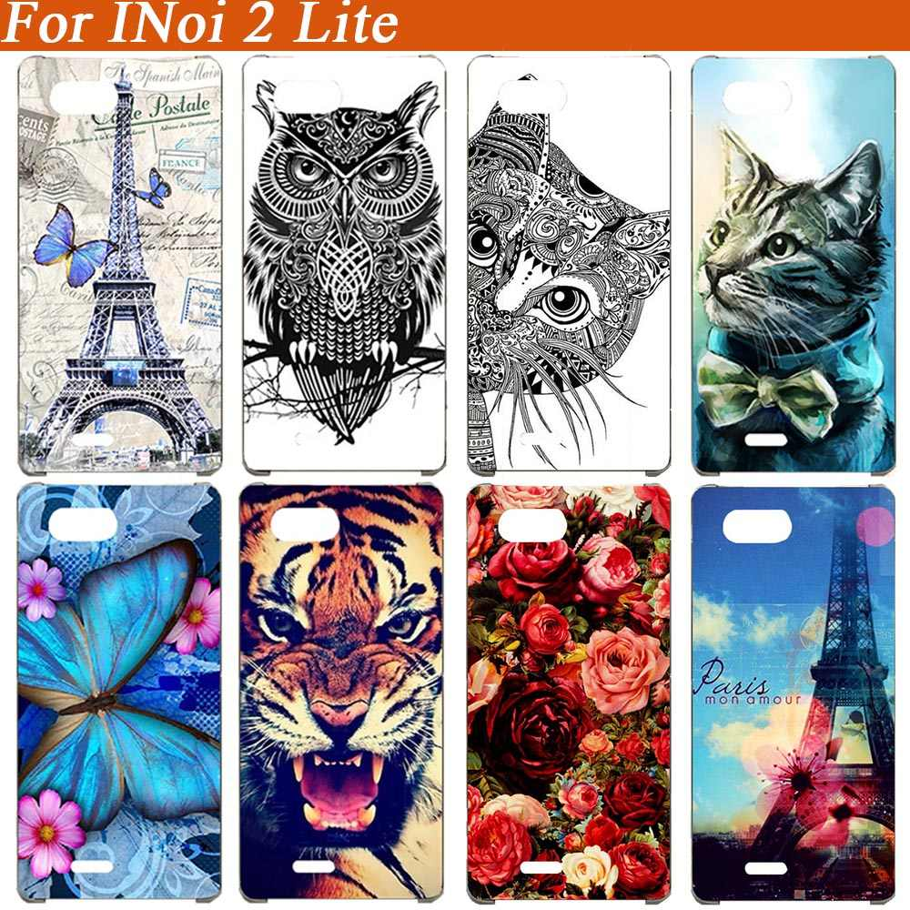 For INoi 2 lite Case 3D Diy Painted Colored Tiger Owl Wolf Eiffel Tower Phone Case For INoi 2 lite Full Cover Fundas Capa