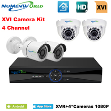 Фотография XVI 4CH CCTV System 1080P HDMI AHD CCTV DVR 4PCS 2.0 MP IR  indoor/outdoor Security Camera 2000 TVL Camera Surveillance DVR Kit