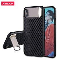 Joyroom Hard Case For iphone X Luxury PC Hard Case Back Cover Case For iphone X with Plating Stand