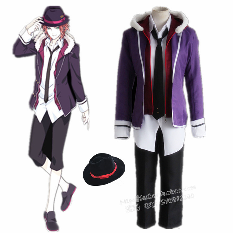 DIABOLIK LOVERS Sakamaki Laito Cosplay Costume Halloween Costumes Unisex Full set Uniform Suit