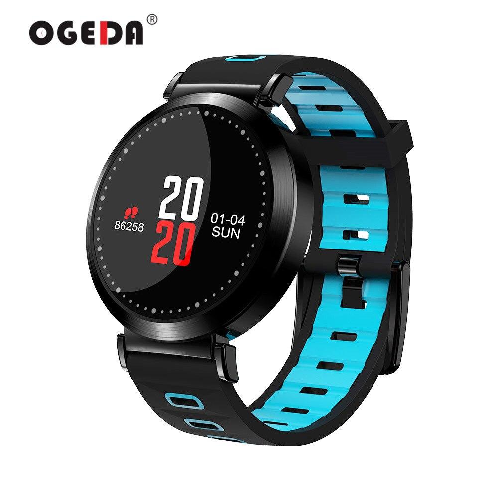 OGEDA M10 Men Smart Watch Wristband Fitness Tracker Blood Pressure watch Sport Bracelet Heart Rate Monitor Color Screen Smart