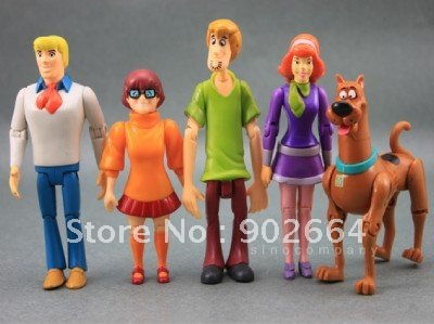 LOT 5 PCS Scooby Doo SHAGGY DAPHNE FRED VELMA DOG FIGUREin Action