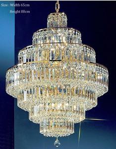 Image 2 - Lámpara de araña de cristal francés con diseño de Imperio Dorado, candelabros cromados, modernos, envío gratis