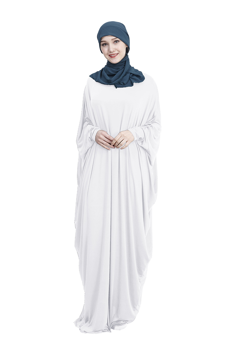 Women's Prayer Garment Muslim Islamic Ramadan Prayer Dress Soft Abaya Robe De Priere Femme