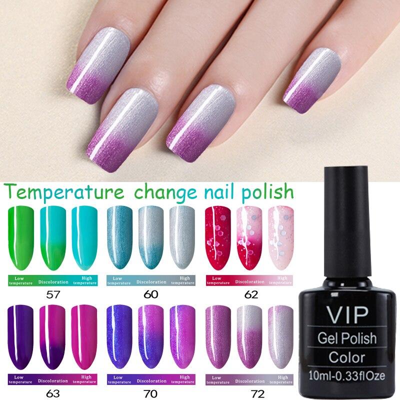 Color Changing Gel Nail Polish: MDSKL 10ML Nail Gel Polish Thermal Temperature Changing