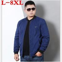 plus size 8XL 7XL 6XL 5XL 2018 New Jacket Men Fashion Casual Bomber Jacket Male Coats Slim Modern Design Stand Collar Overcoat