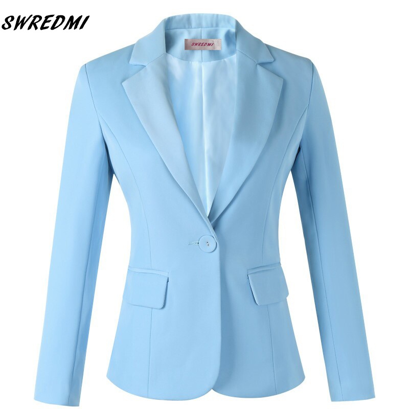 SWREDMI Fashion Style Spring Autumn Blazer Jackets Slim Outwear Suit Coats Business Office Lady Leisure Blazer Plus Size XS-4XL