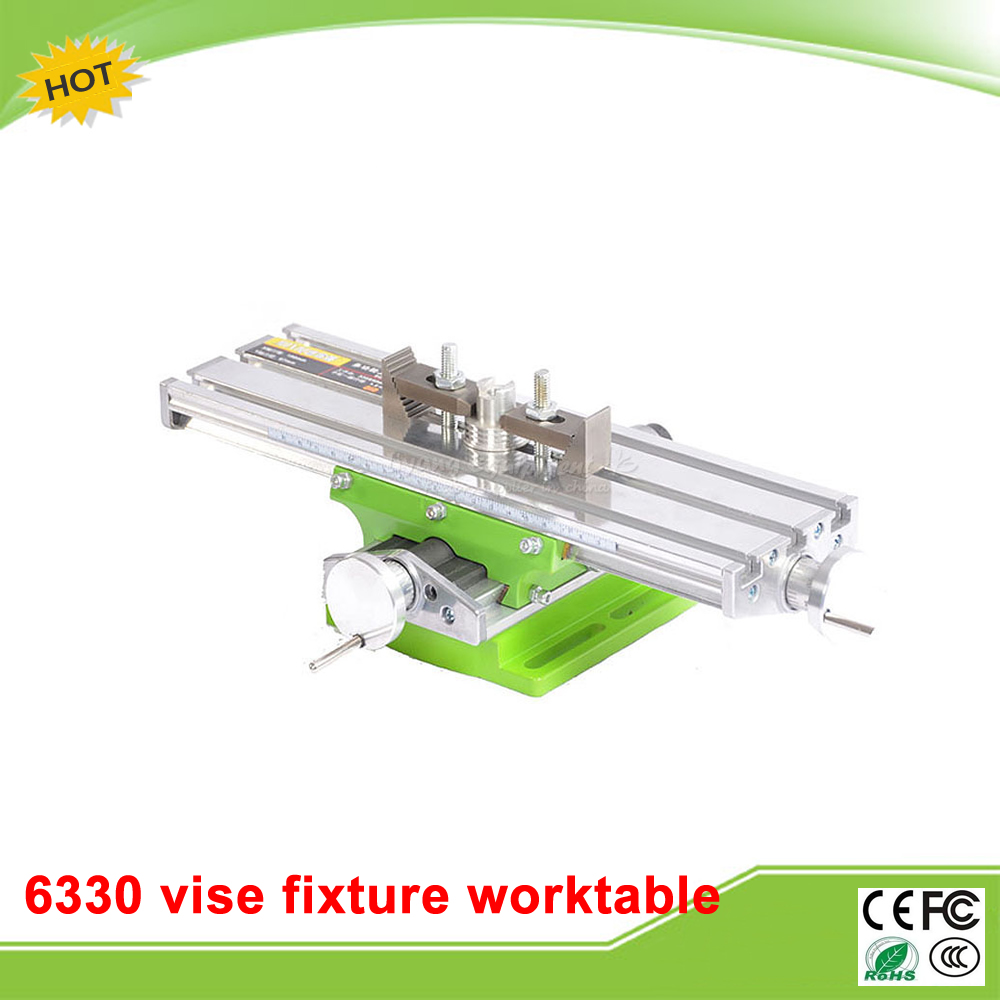 Miniature precision LY 6330 Milling Machine Bench drill Vise Fixture worktable X Y-axis adjustment Coordinate table ly 6350 mini precision multifunction cnc router machine bench drill vise fixture worktable x y adjustment coordinate table