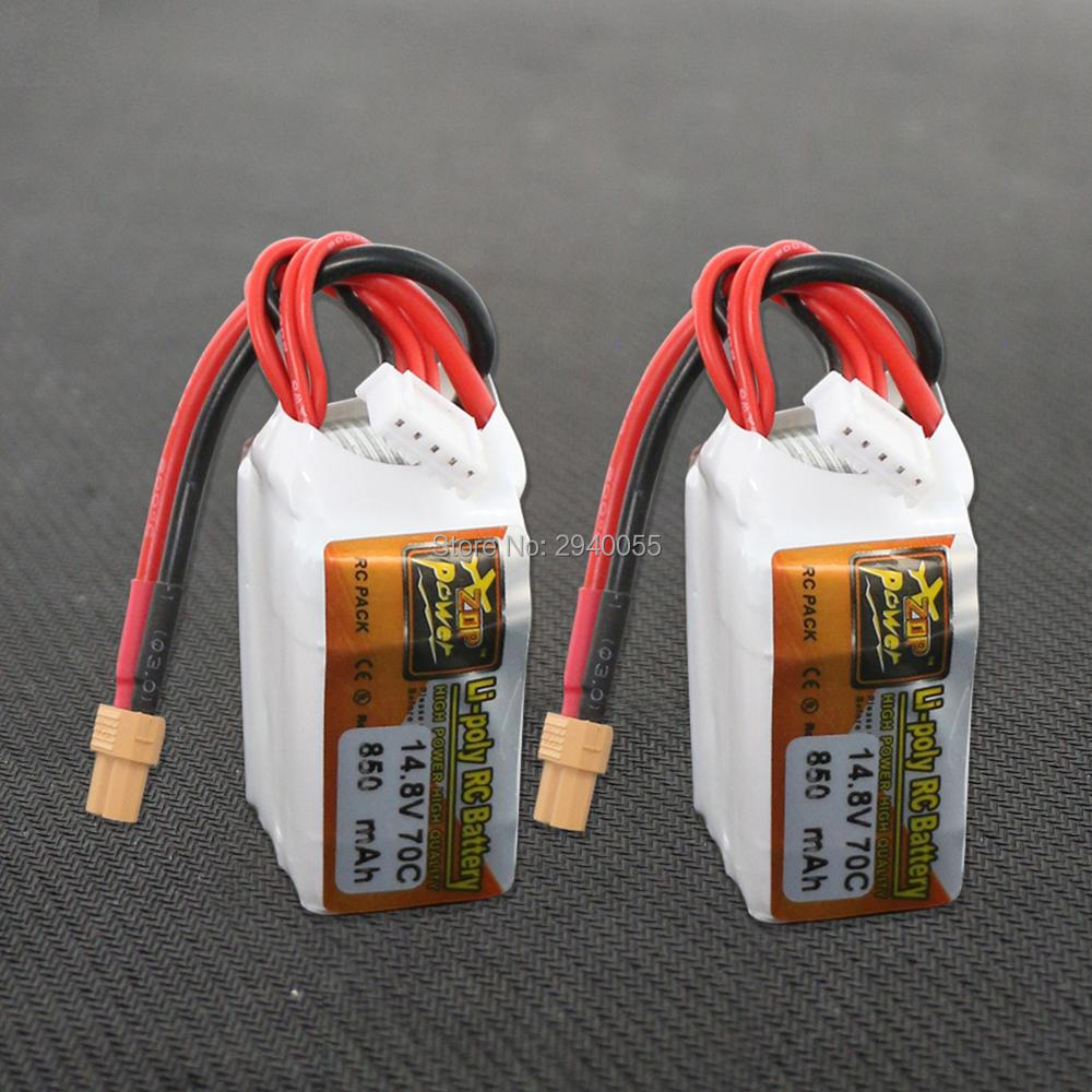 2pcs ZOP Power LiPo Battery 14.8V 850mAh 70C 4S XT30 Plug For RC Quadcopter Drone Helicopter Car Airplane aisike mini stereo car bluetooth headset wireless earphone bluetooth handsfree car kit with 2 usb base charging dock
