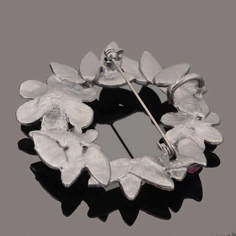 Cổ Mạ Kim Loại Hoa Trâm Cài Phù Hiệu Mặt Dây Chuyền Với Đá Tự Nhiên Mô Phỏng Ngọc Trai Brooch Pins Phụ Nữ Đồ Trang Sức Cổ Điển