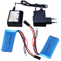 18650 7.4V 1500Mah 15C Lipo Battery + 7.4V Balance Charger Parts For MJX T40 T40C F39 F49 T39 Syma 822 RC Helicopter