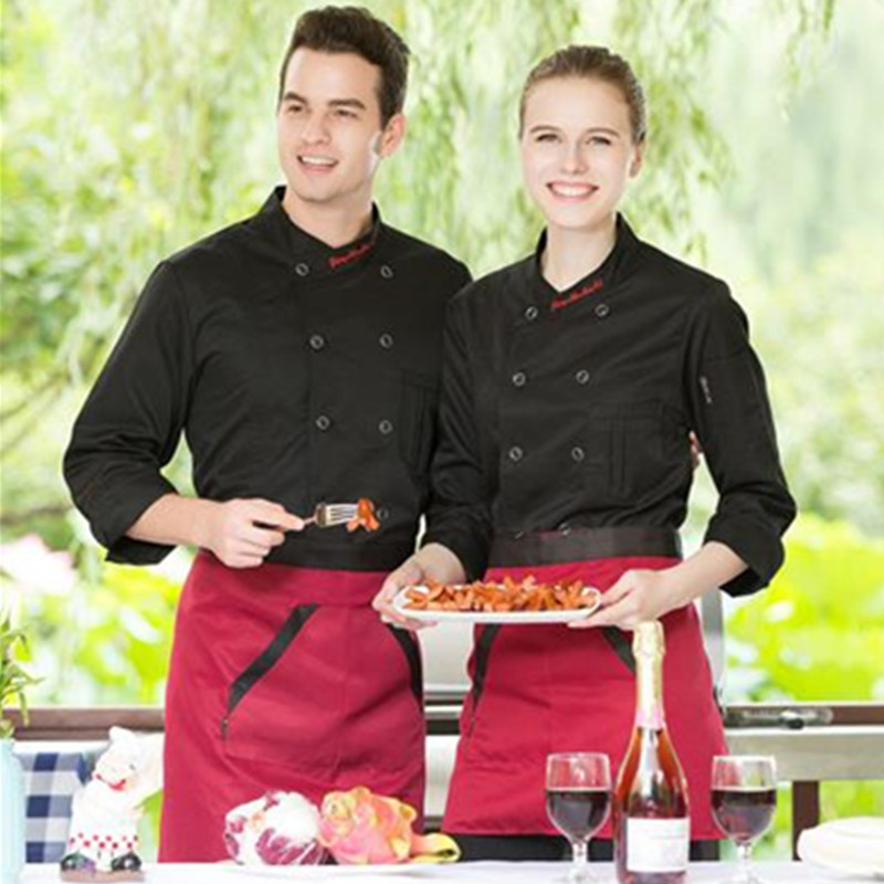 High Quality Summer Long Sleeve Chef Uniform Cook Clothes Chef Jacket Food Service Clothing Hotel working wear