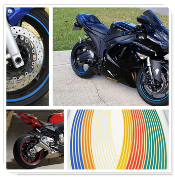 Strips Motorcycle Wheel Sticker Reflective Decals Rim Tape Bike Car Styling For SUZUKI M DL650 Kawasaki Z1000 ZX10R ZX12R image