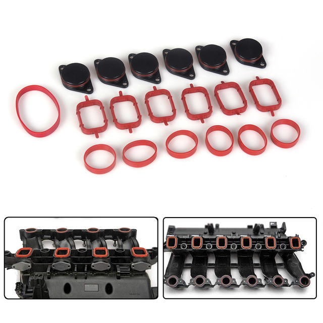 Diesel Swirl Flap Blanks Intake Manifold Gaskets Repair Replacement Kit 6 x  33mm For BMW M57