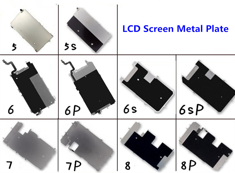 For iPhone 5 5s 5c 6 6 plus 6S plus 8 7 Plus LCD Screen Back Metal Plate Shield with Home Button Expand replacement image