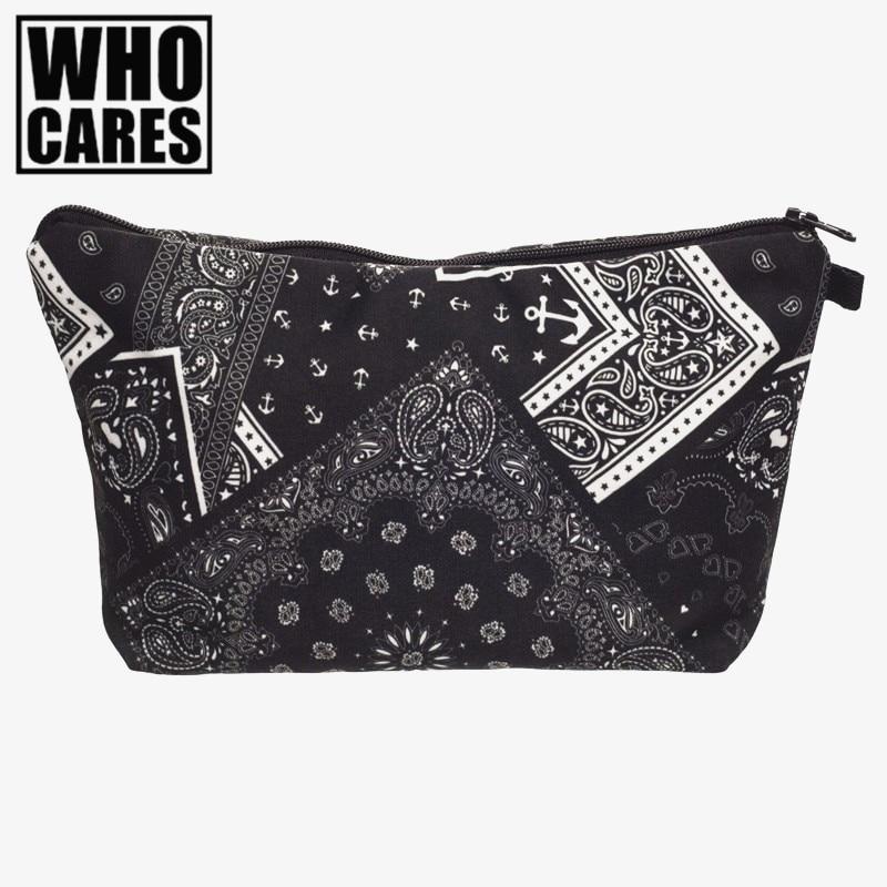 large 3d printing cosmetic bag trousse de toilette necessaire who cares fashion brand