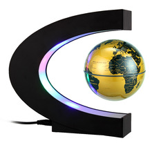 3 InchC shape LED World Map Floating Globe Magnetic Levitation Light Antigravity magic/novel light Xmas Birthday Gift Home Decor