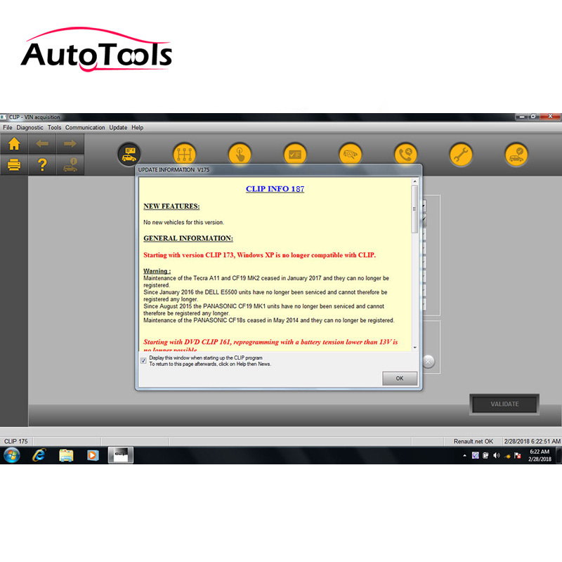 Newest Release V187 For Renault Can Clip Diagnostic Software V187 Support Multi-languages