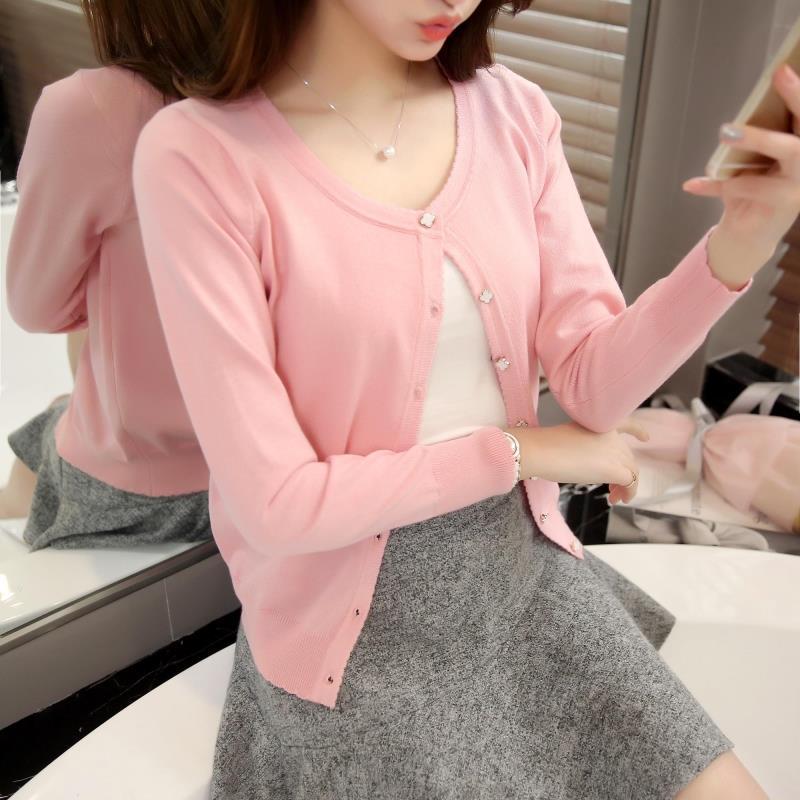 OASPEȚI 3075 - 2018 Versiunea coreeană a noului cardigan de - Îmbrăcăminte femei - Fotografie 2