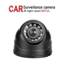 700TVL kryty sufit metalowy autobus Mini kamera  IR Night Vision 1/3 CCD 3.6mm dla bezpieczeństwa nadzoru pojazdu  DC12-24V PAL