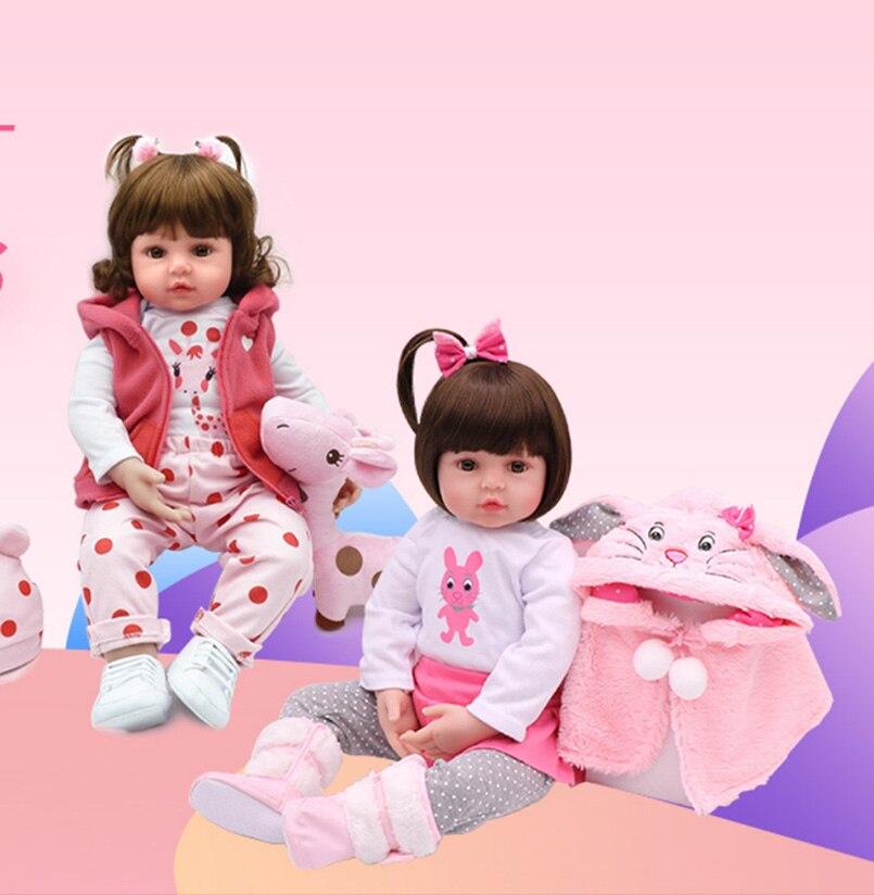 49 см кукла новорожденного ребенка младенец reborn игрушки силиконовые тело реалистичный полный живой reborn спящие куклы Младенцы игрушки для де