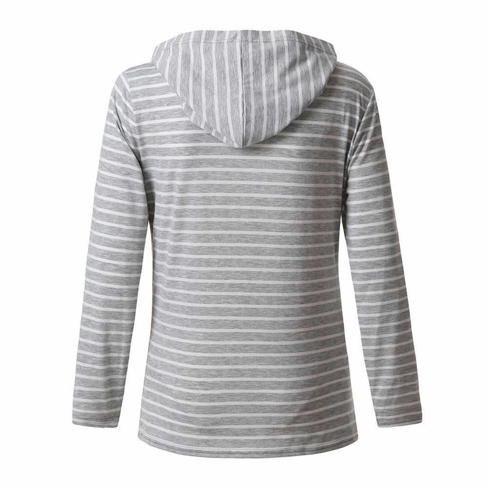 9398239ab2f15 ... Women's Nursing Hoodie Long Sleeves Striped Tops Breastfeeding Hoodie  Sweatshirt Breastfeeding Soft Comfortable T-Shirt ...