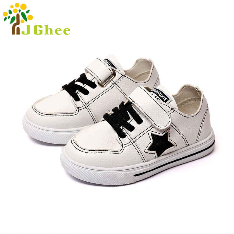 White Shoes For Boys Girls Kids Casual Sneakers Soft PU Leather Children Sports Shoes Fashion Boys Girls Sneakers 26-30