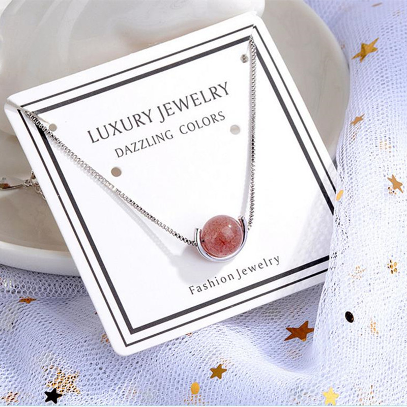 LUKENI Latest Strawberry Crystal Women Bracelets Accessories Top Quality 925 Sterling Silver Anklets Jewelry Lady Gift