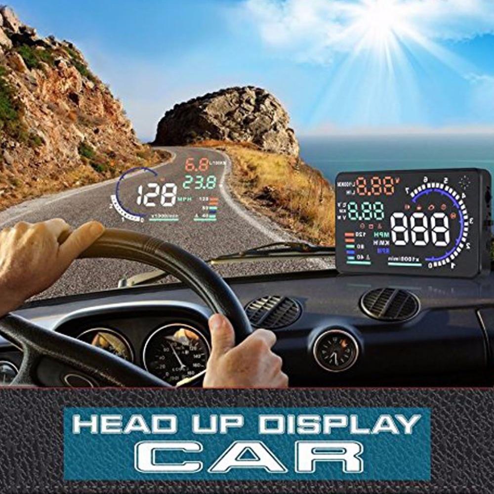 Projecteur de vitesse de pare-brise HUD OBD2 pour voiture véhicule GPS indicateur de vitesse projecteur survitesse Alram système d'avertissement