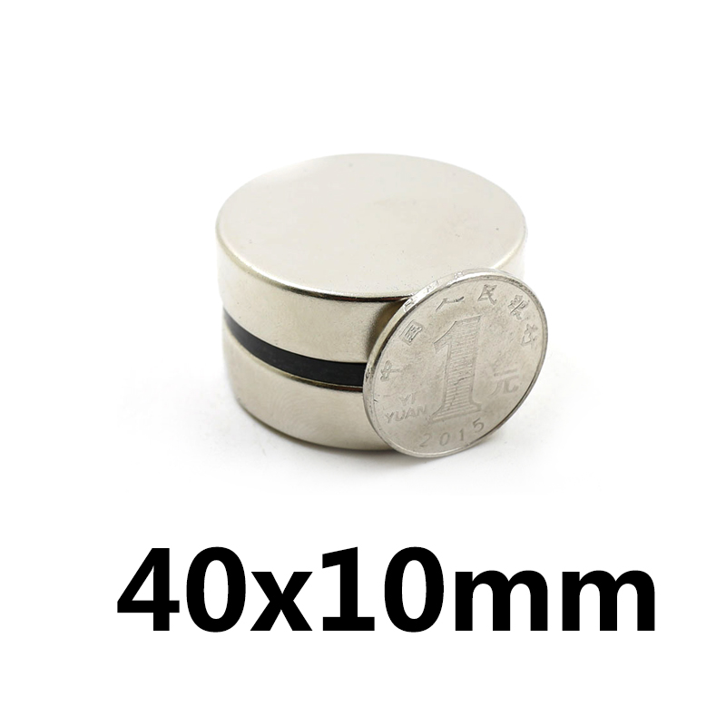 1Pcs 40x10 Neodymium Magnet Disc Permanent N35 NdFeB Small Round Super Powerful Strong Magnetic Magnets 40mm x 10mm1Pcs 40x10 Neodymium Magnet Disc Permanent N35 NdFeB Small Round Super Powerful Strong Magnetic Magnets 40mm x 10mm