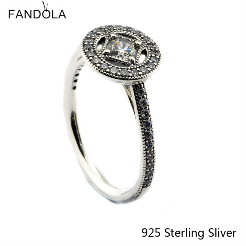 925 Sterling Silver Rings European Style Jewelry Vintage