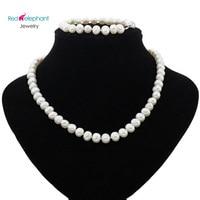 genuine AAA geniune freshwater natural pearl set Akoya jewelry real pearl 100% White Natural Freshwater pearl Jewelry Sets