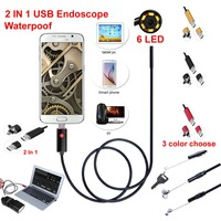 2016 Newest 2IN1 Android And PC 2 0MP HD 720P Micro USB Endoscope Camera Borescope Inspection