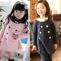 Baby Kids Girls Party Dress Long Sleeve One Piece Dress Tops Clothes 2 7 Y