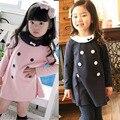 Trajes Crianças meninas Vestir Roupas de Manga Longa 2-7 Y Bebés Partido One Piece-Vestido