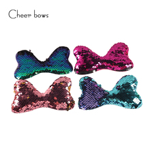 10pcs/bag Sequin Hairband Clothes Patchwork Multi-color Optional Apparel Sewing Materials DIY Hairbows Accessories