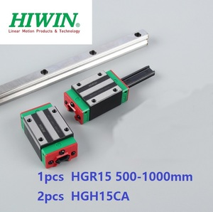 1 Uds Original carril lineal hiwin HGR15 500-1000mm + 2 uds HGH15CA/HGW15CA bloque